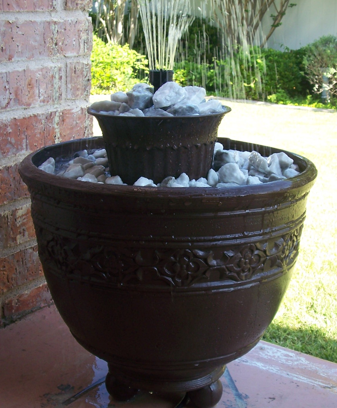 Blj graves studio 1 diy fountain Home made water feature