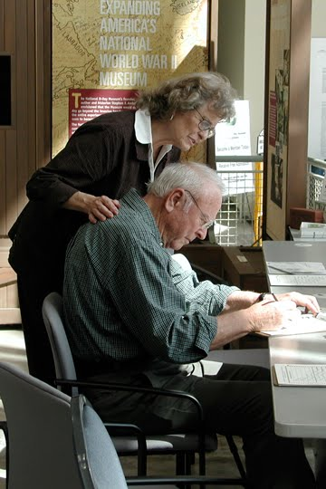 Signing in at the WWII museum in New Orleans 2005