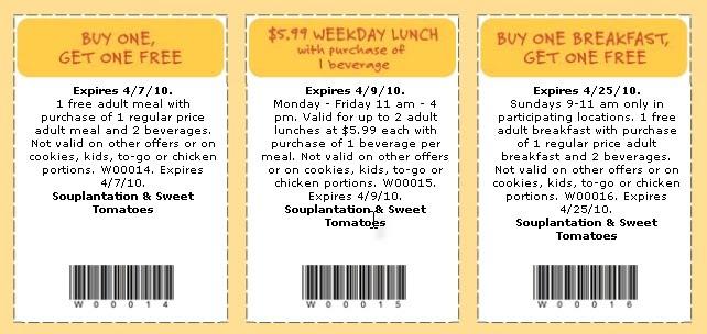 restaurant coupons  discounts