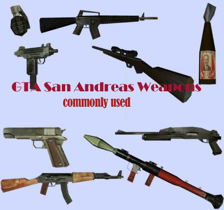 Egta Games Gta San Andreas Weapons