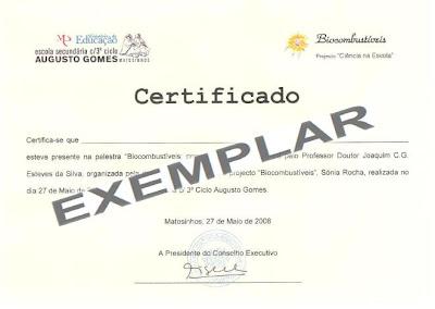exemplar do certificado