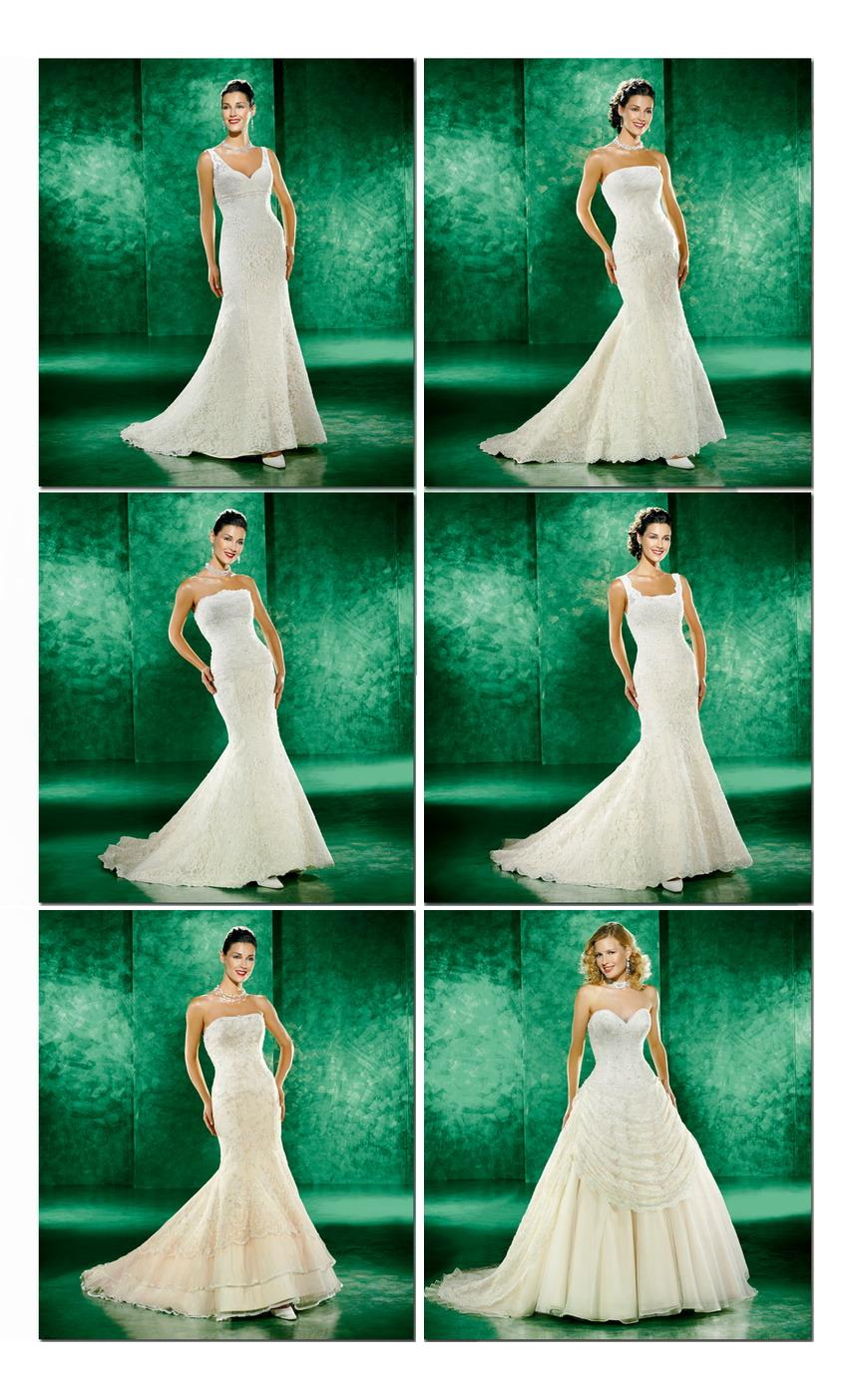 Beautiful cream colored wedding dresses with trains