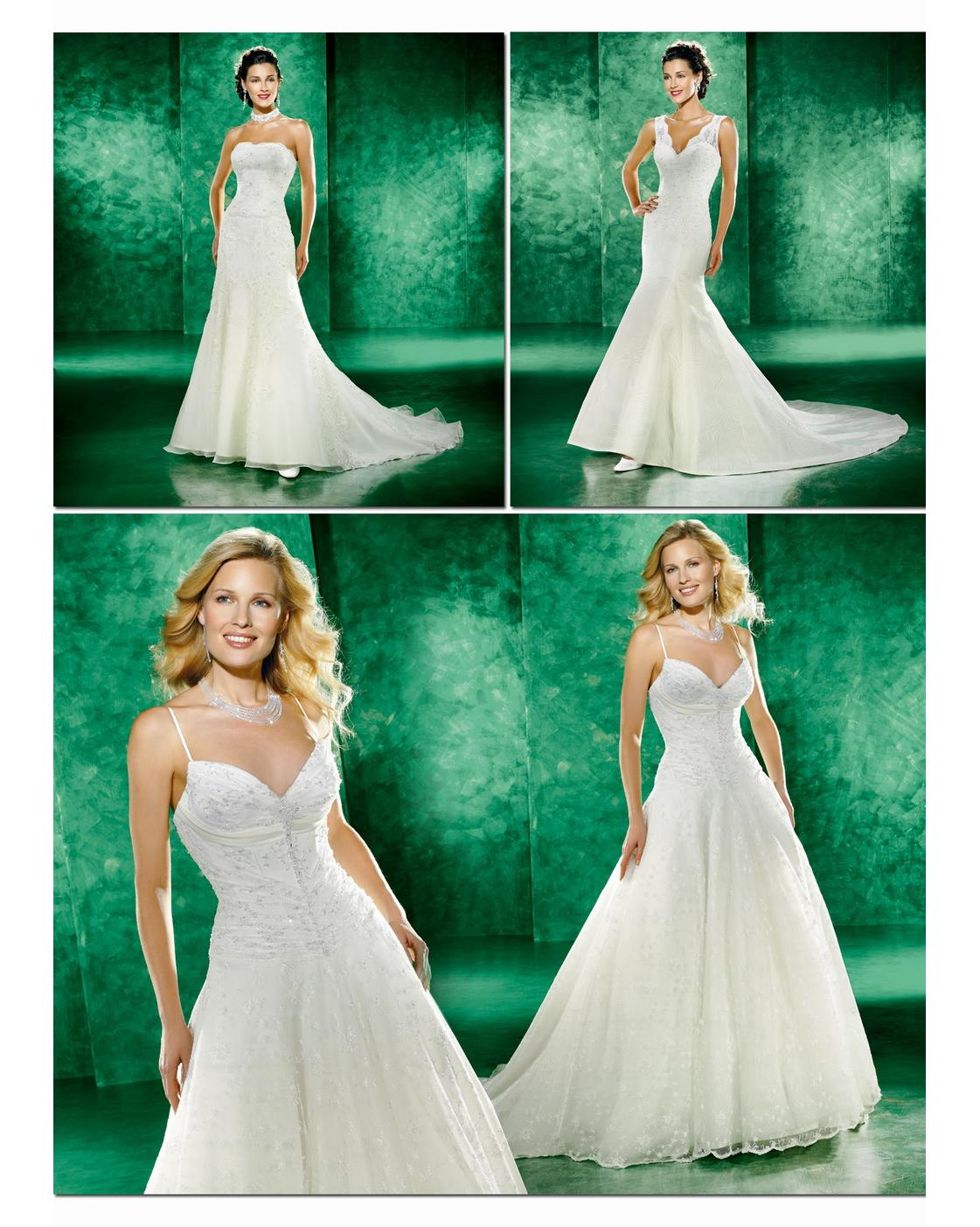 Cream colored wedding dresses with beautiful top designs