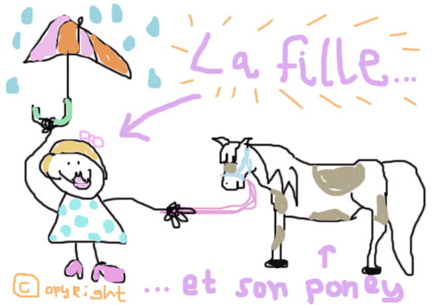 La fille et son poney