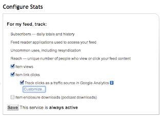 FeedBurner Configure Stats