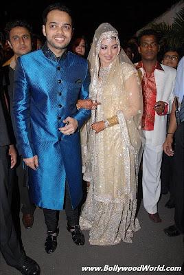 Ayesha Takia & Farhan Azmi reception pics