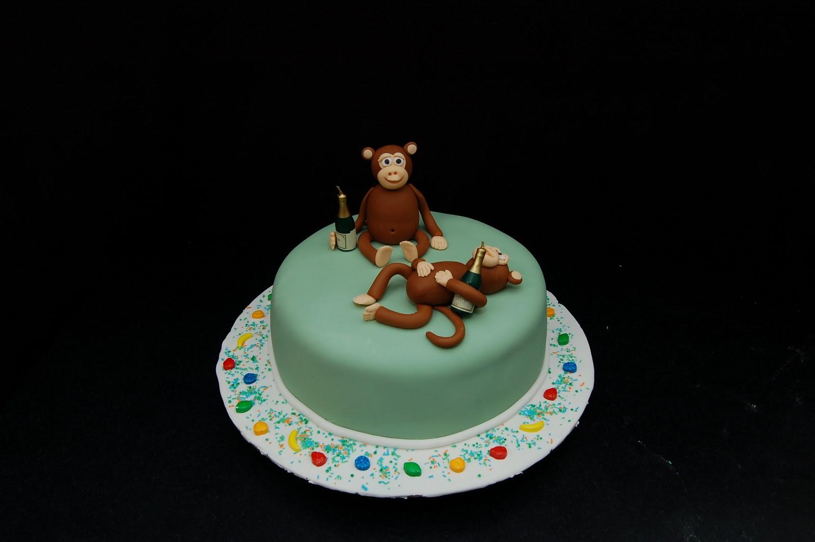 My Little Cake Room Happy Birthday Monkeys