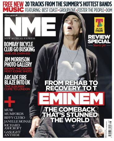 nme front cover. The photo on the front cover