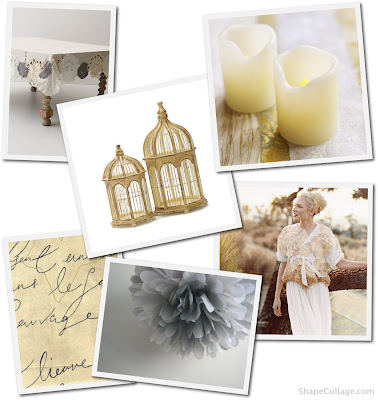 Soft Grey and Yellow grey and yellow wedding zebra themed wedding