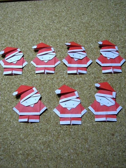 """すべての折り紙 折り紙で作るコースター : ... 貴手""""人: 折り紙 サンタです"""