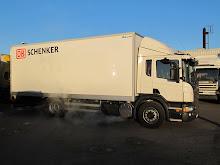 Vår lastbil på OKQ8 i Kungsbacka AB