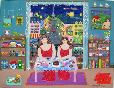 """""""Habituándose à Paris"""" serie las Nenonas"""