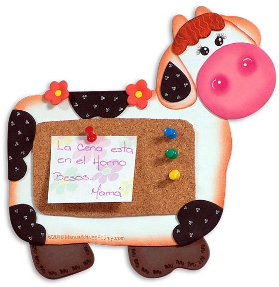 Manualidades vaca notas - Decoracion de cocina con vacas ...