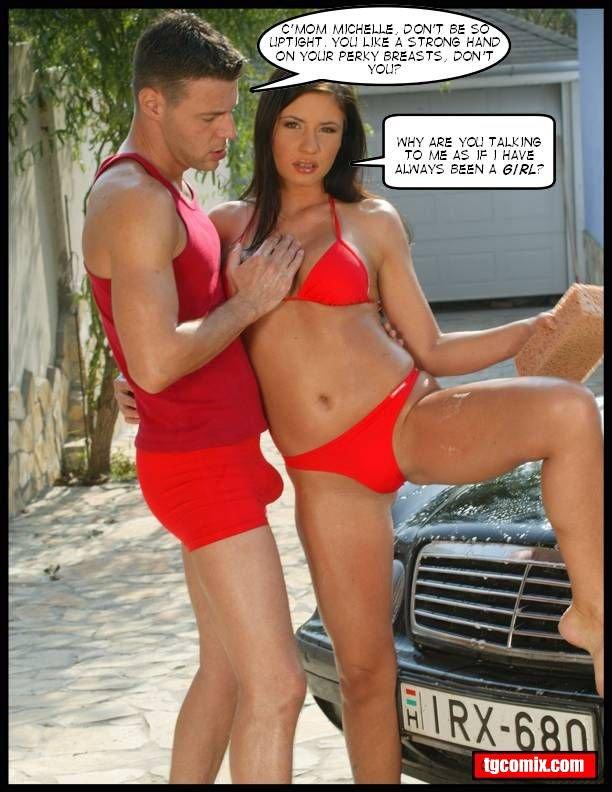 Tg captions bikini