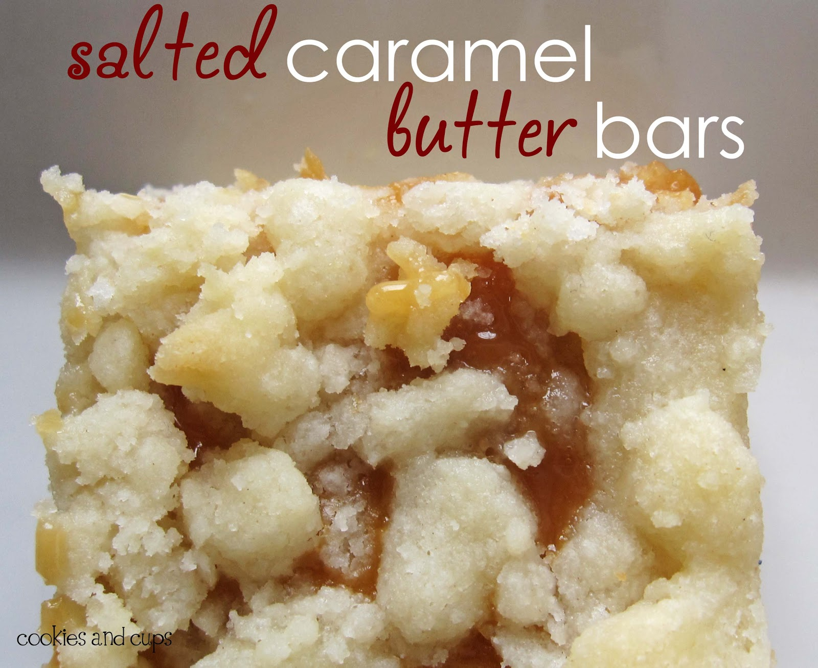 Salted Caramel Butter Bars: Good Family Reunion Prep ...