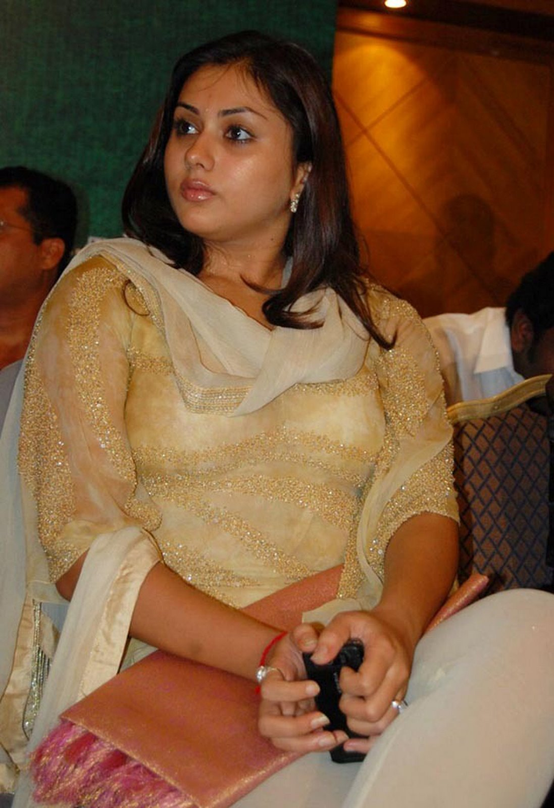 namitha very hot in transparent dress bra and thighs visible