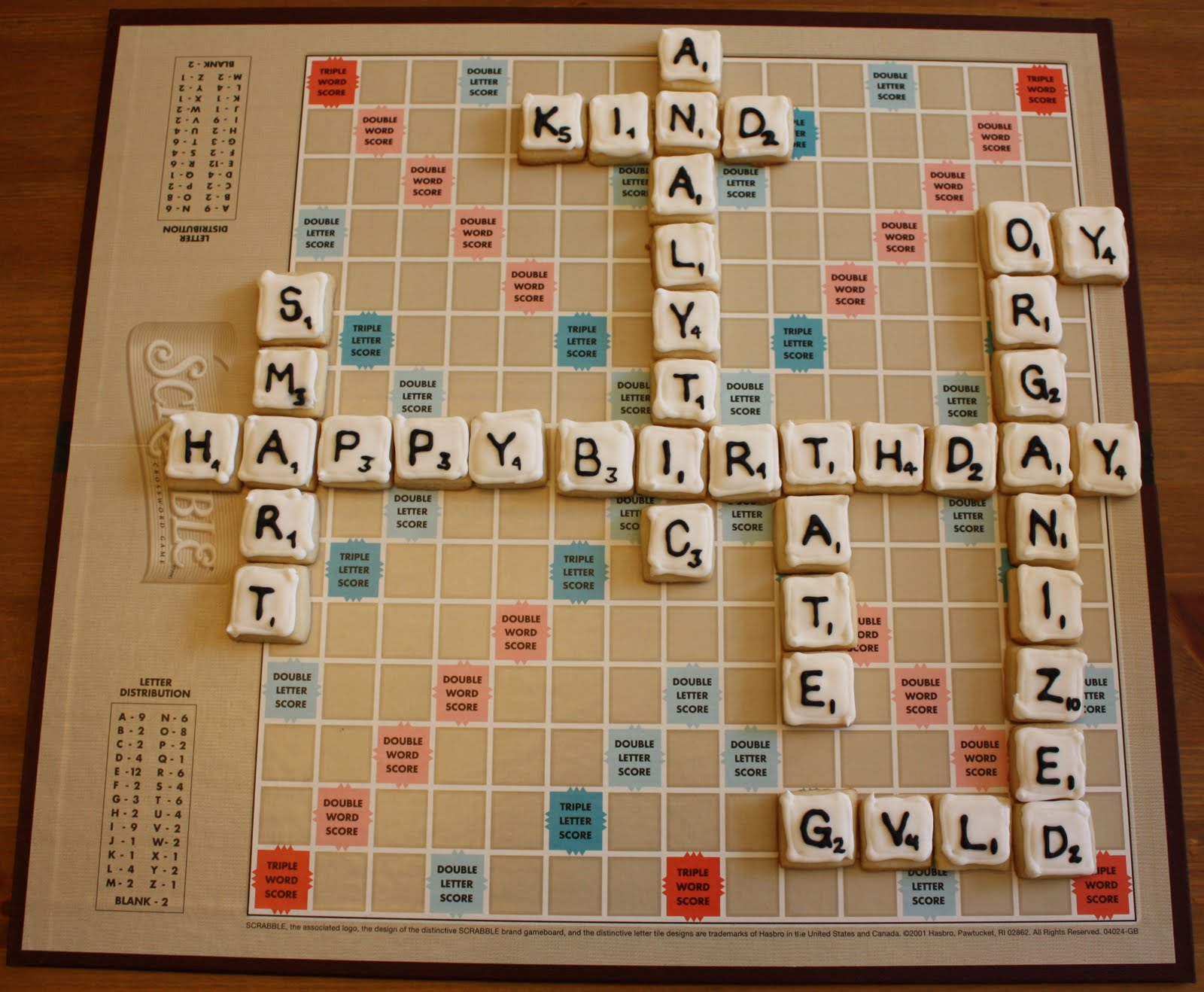 ... I wanted to try making Scrabble tiles as part of my dad's birthday gift.