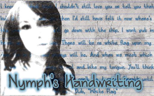 NEW! Nymph's Handwriting Font
