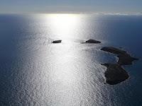 vista aérea das ilhas de Abrolhos