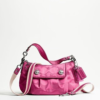 COACH  NWT POPPY FUSCHIA GROOVY BAG 13833