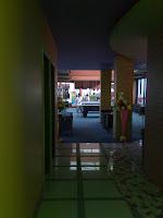 Pool lounge area. Hotel Maxi Tanjung Balai