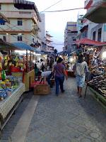 Night market or pasar malam in Tanjung Balai, Karimun