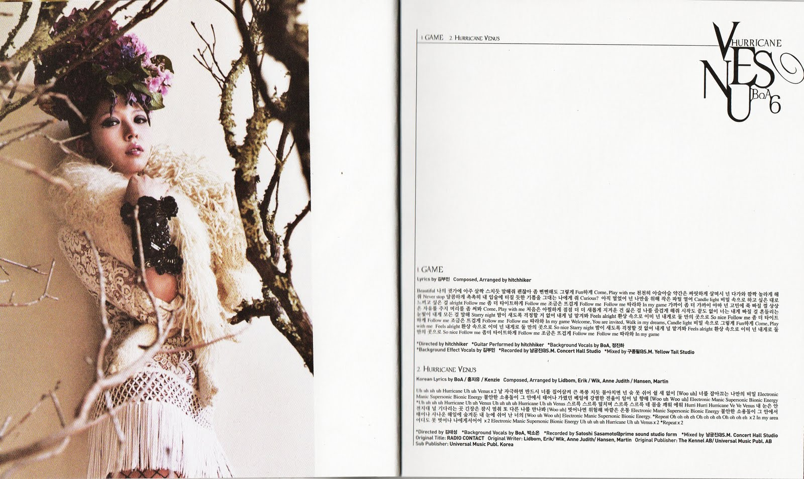 "Scans del CD ""Hurricane Venus"" 7"
