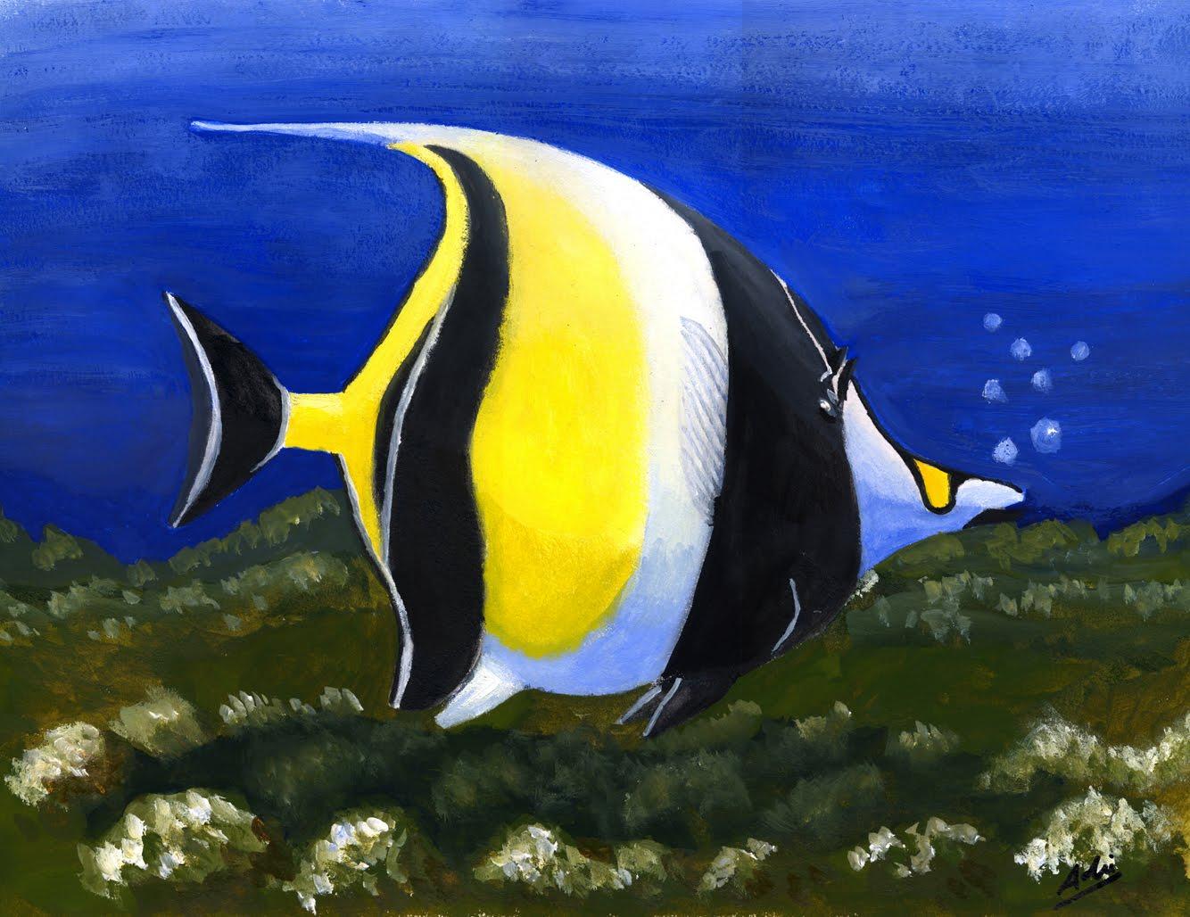 el color de los peces: