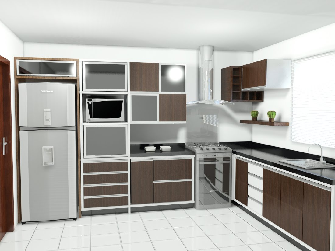 Micali Design: Mais uma cozinha. #59483C 1100 825