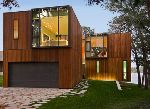 Wooden house modern design home design interior design for Wood house exterior design