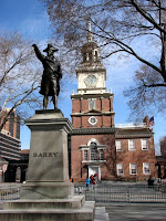 Independence Hall and Commodore Barry