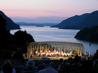 Trophy Point bandshell and Hudson River