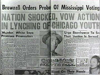 newspaper article about Emmett Till murder