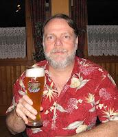 Barry mit Bier