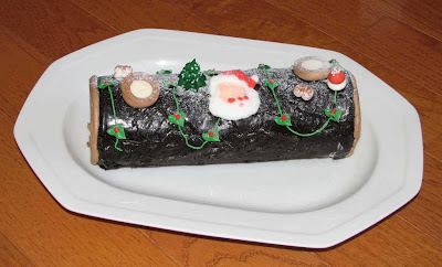 "Bûche de Noël, the ""yule log"", a traditional Christmas dessert"