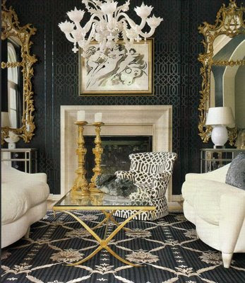 Ohmigosh design blog hue is kelly wearstler for Hollywood regency wall decor