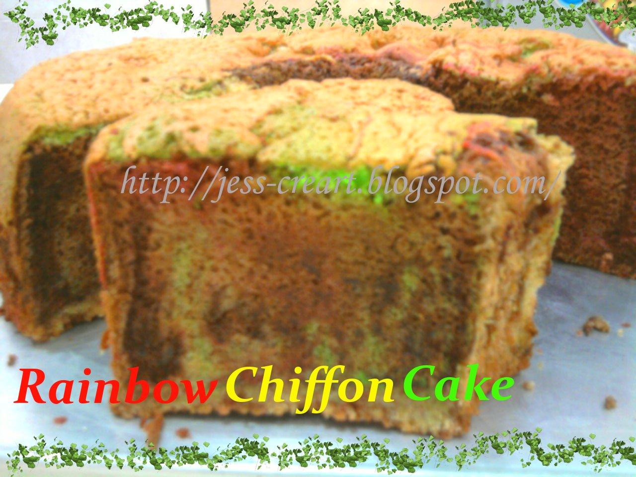 Jess' Creative Art: -Rainbow Chiffon Cake-