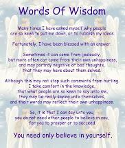 Motivational/Inspirational Words of Wisdom