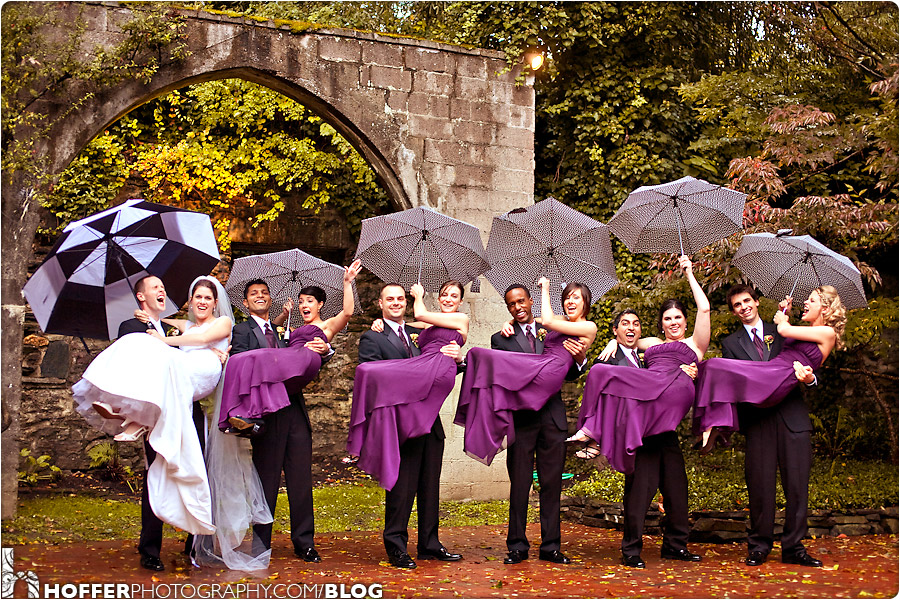 Closed Pic S During A Rainy Outdoor Wedding