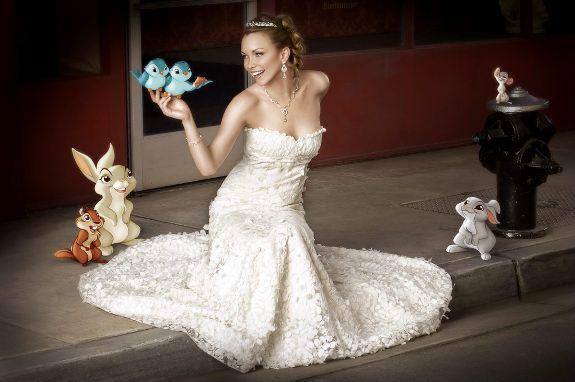 Your Wedding Support Disney Princess Themed Wedding Dress