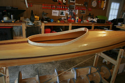 Wood Strip Kayak Coaming