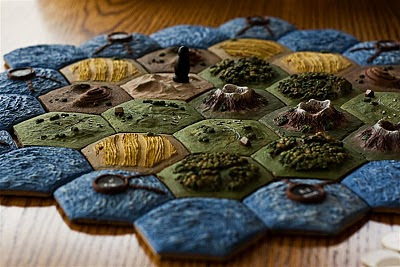 Settlers of Catan Homemade 3d Pieces Alumilite Plastic Resin