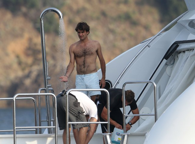 Random Thoughts Of A Lurker Roger Federer Vacation Pics
