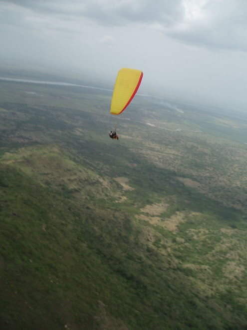 Flying at Osudoku, near Lake Volta