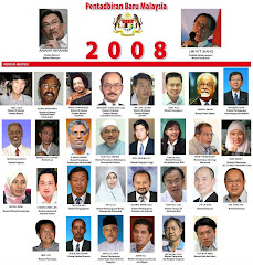 Kabinet Bayangan Anwar Pada 16 September 2008. Sudah Terbit Dalam Sinar Harian 2 Ogos