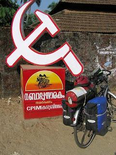 estado de kerala A+comunista+bici