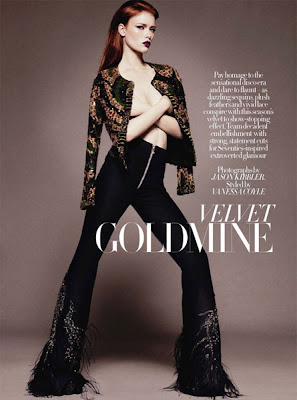 velvet goldmine with model julia hafstrom
