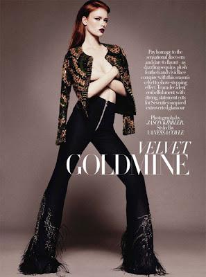 velvet goldmine with model julia hafstrom