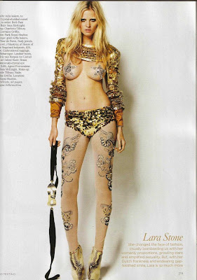 laura stone in glam rock outfit