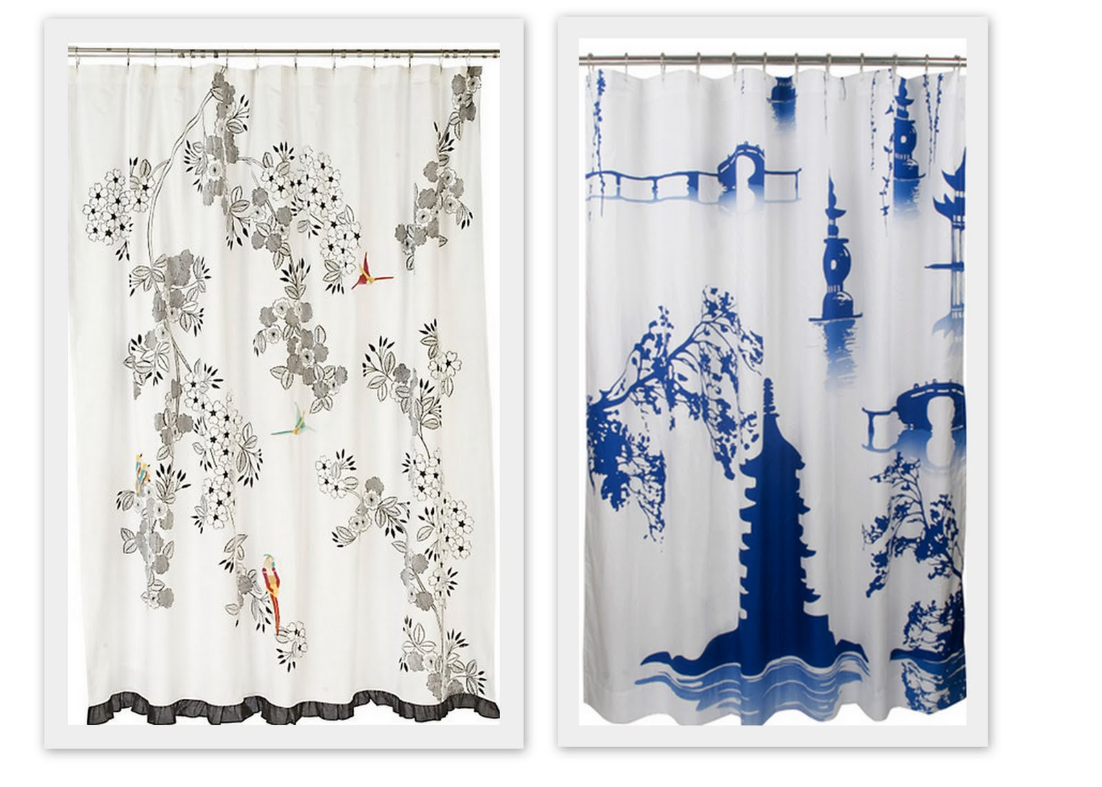 Anthropologie floral shower curtain - Above Beautiful Chinoiserie Examples Avian Shower Curtain From Anthropologie